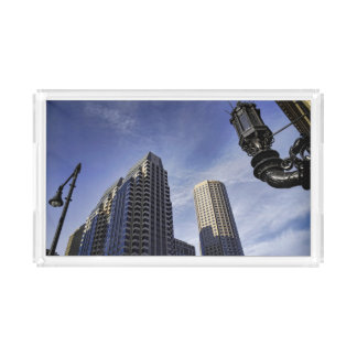 Architecture of downtown Boston Acrylic Tray