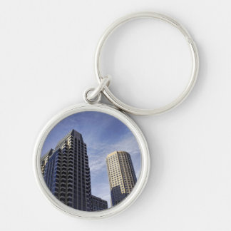 Architecture of downtown Boston Silver-Colored Round Key Ring