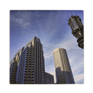 Architecture of downtown Boston Wood Coaster