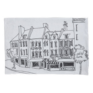 Architecture of Saint-Omer, France Pillowcase
