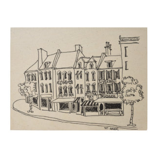 Architecture of Saint-Omer, France Wood Print