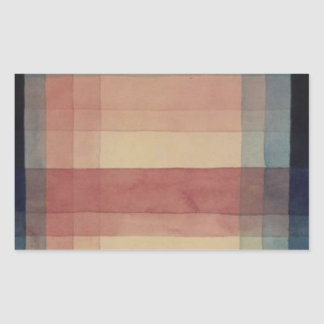 Architecture of the Plain by Paul Klee Rectangular Sticker