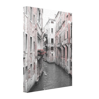 Architecture of Venice - Canals Stretched Canvas Prints