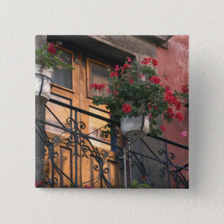 Architecture on the streets of San Miguel de 15 Cm Square Badge