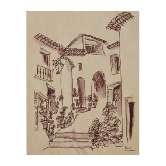 Architecture | Saint-Guilhem-Le-Desert, France Wood Print