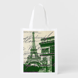 architecture victory gate paris eiffel tower reusable grocery bag