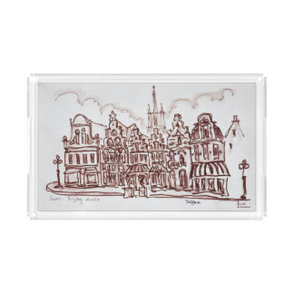 Architecture Vrijdagmarkt | Ghent, Belgium Acrylic Tray