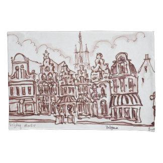 Architecture Vrijdagmarkt | Ghent, Belgium Pillowcase