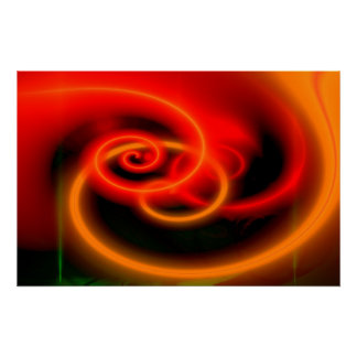Archival Heavyweight Paper Red Abstract Art Print