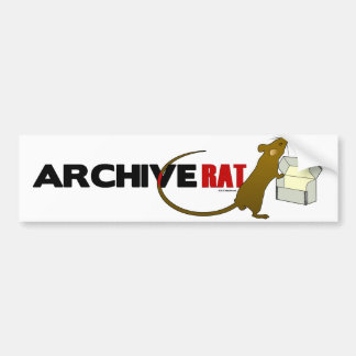 Archive Rat (Version 2) Bumper Sticker