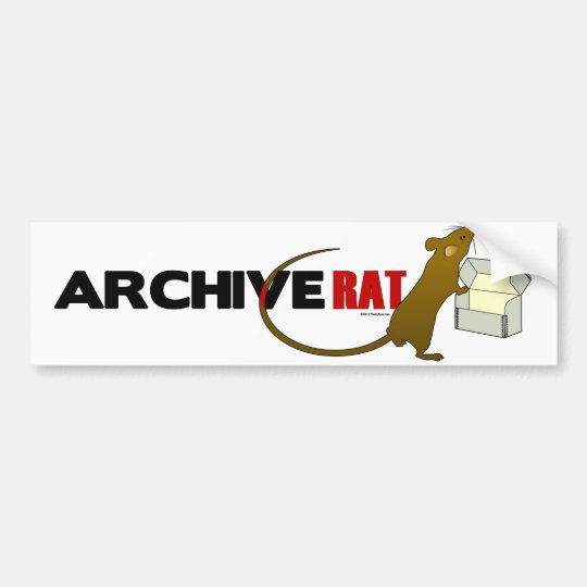 Archive Rat (Version 2) Bumper Sticker