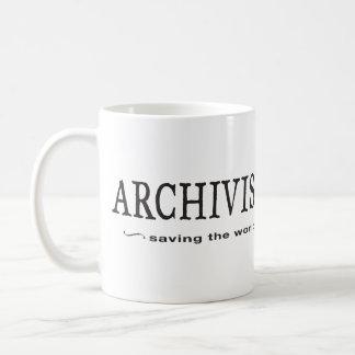 Archivists - Saving the World Basic White Mug