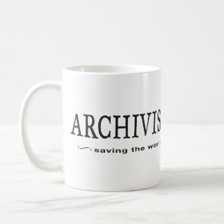 Archivists - Saving the World Coffee Mug