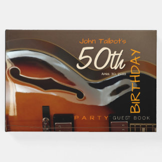 Archtop guitar 50th Birthday Party Guest Book