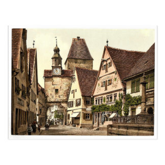 Archway and St. Mark's Tower, Rothenburg (i.e. ob Postcard