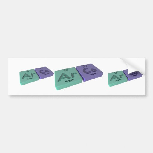 Arco as Ar Argon and Co Cobalt Bumper Sticker