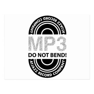 ARCo MP3 DO NOT BEND Postcards