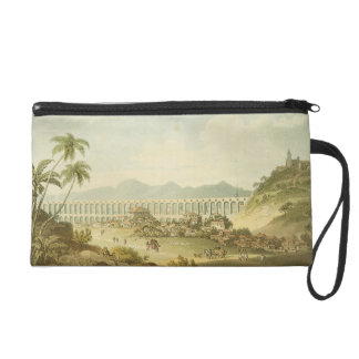 Arcos de Carioco, or Grand Aqueduct in Rio de Jane Wristlet Purses