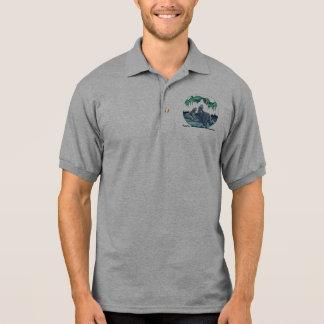 Arctic Art Golf Shirt Wildlife Bear Shirt