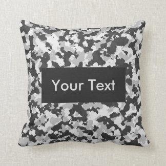 Arctic Camouflage Customizable Cushion