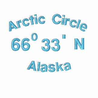 Arctic Circle, Alaska, 66, 0, 33, ', N Embroidered Polo Shirt