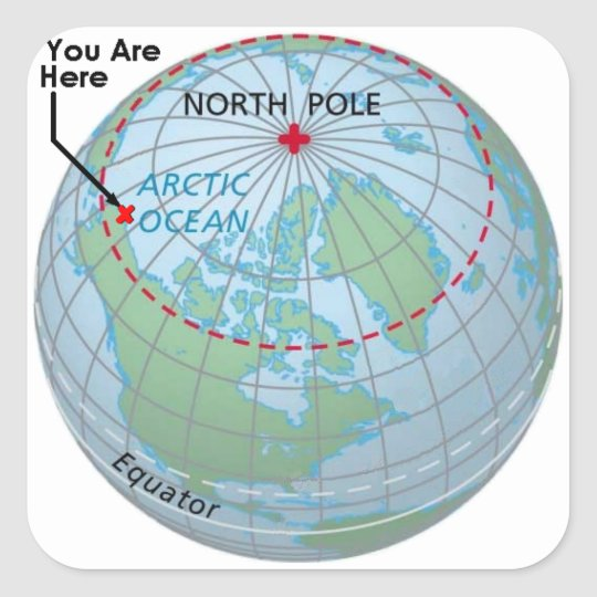 Arctic Circle Square Sticker