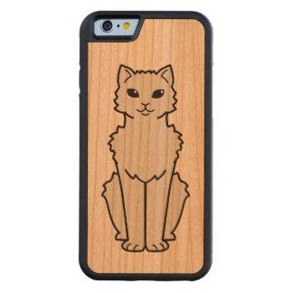 Arctic Curl Cat Cartoon Carved® Cherry iPhone 6 Bumper Case