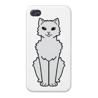 Arctic Curl Cat Cartoon iPhone 4 Cases
