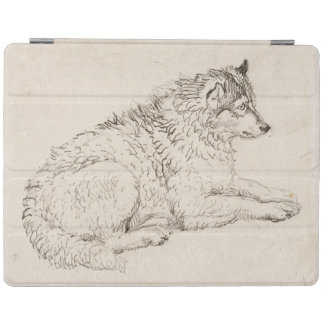 Arctic Dog, Facing Right (pencil on paper) iPad Cover