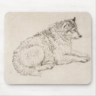 Arctic Dog, Facing Right (pencil on paper) Mouse Mat