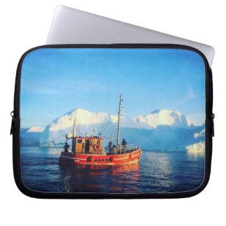 arctic fishing laptop sleeve
