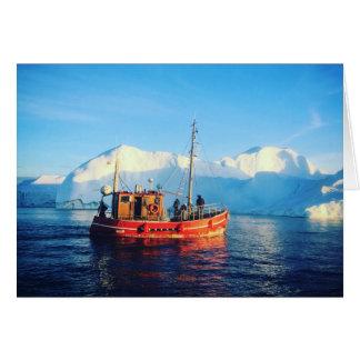 arctic fishing notecard