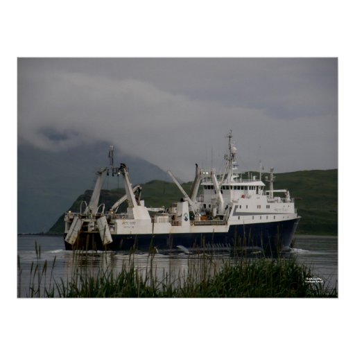 Arctic Fjord, Catcher/Processor in Unalaska Bay Posters