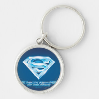 Arctic Fortress of Solitude Silver-Colored Round Key Ring