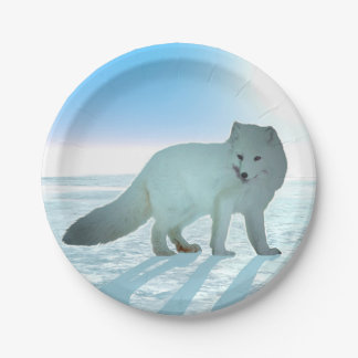 Arctic Fox 7 Inch Paper Plate