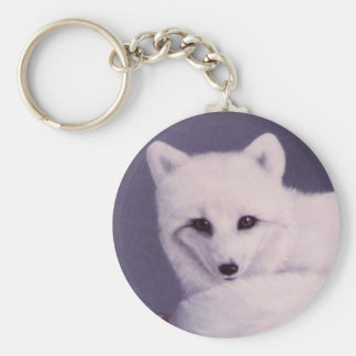 Arctic Fox Basic Round Button Key Ring
