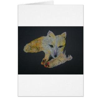 arctic fox card