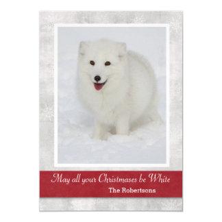 Arctic Fox Christmas Card