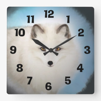 Arctic Fox Clock