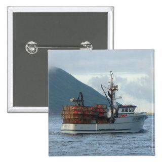 Arctic Fox, Crab Boat in Dutch Harbor, Alaska 15 Cm Square Badge