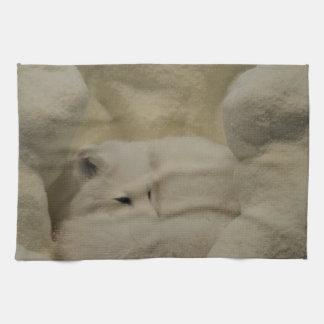 Arctic Fox Den Tea Towel