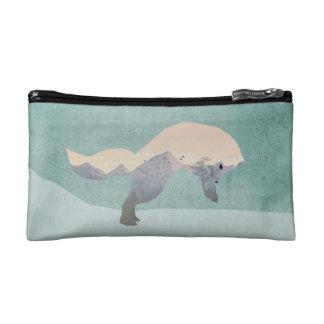 Arctic Fox Double Exposure Cosmetic Bag