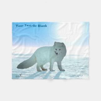Arctic Fox Fleece Blanket