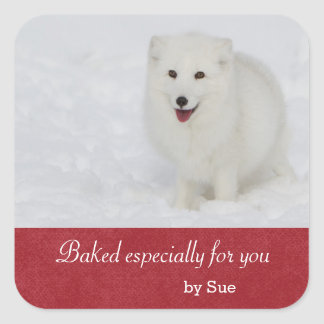 Arctic Fox Gift Sticker
