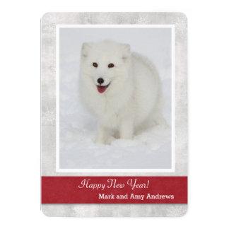 Arctic Fox Happy New Year's Card