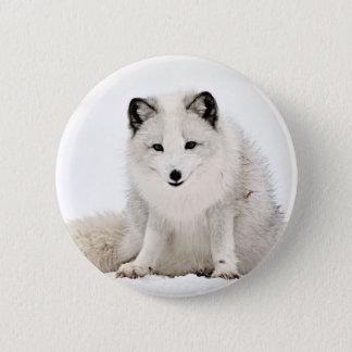 Arctic Fox in the Snow 6 Cm Round Badge
