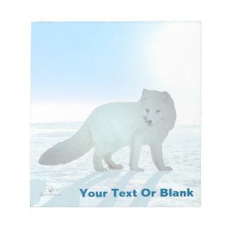 Arctic Fox Notepad