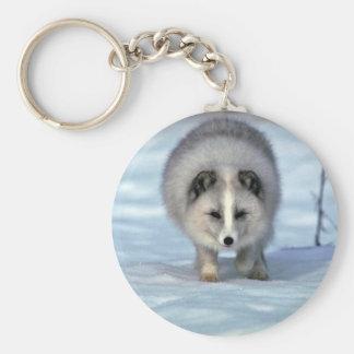 Arctic Fox on snow Key Ring