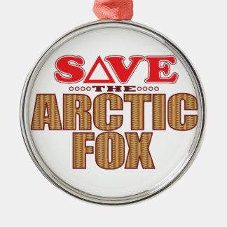 Arctic Fox Save Christmas Ornament