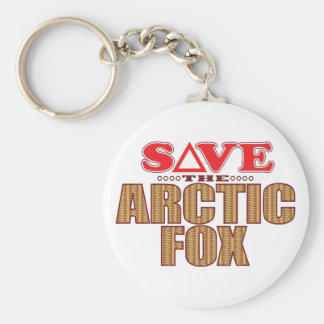 Arctic Fox Save Key Ring
